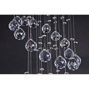Piękna lampa wisząca kryształowa 100 cm z długimi linkami w kryształach Slidehome