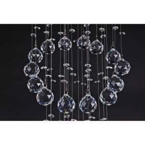 Wiszący żyrandol kryształowy z kryształkami na linkach o długości 100 cm Slidehome