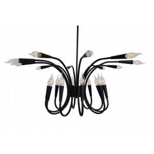 Duża efektowna lampa na wiele żarówek świeczek antyczne żyrandole Slidehome