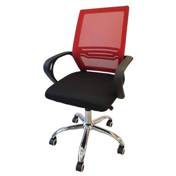 Fotel obrotowy ergonomiczny czerwony Slidehome