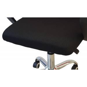 Fotel obrotowy czarno czerwony do biura Slidehome
