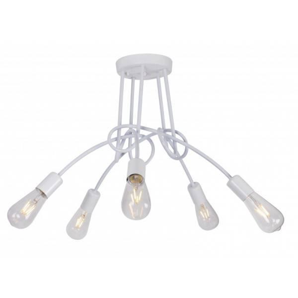 Lampa Sufitowa Biała Z Powyginanymi Ramionami