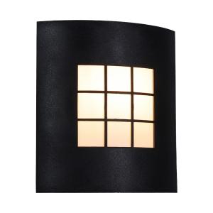 Czarno mleczna lampa elewacyjna