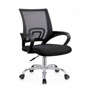 Fotel obrotowy ergonomiczny w kolorze czarnym