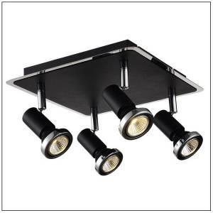 Lampa sufitowa z czterema reflektorkami
