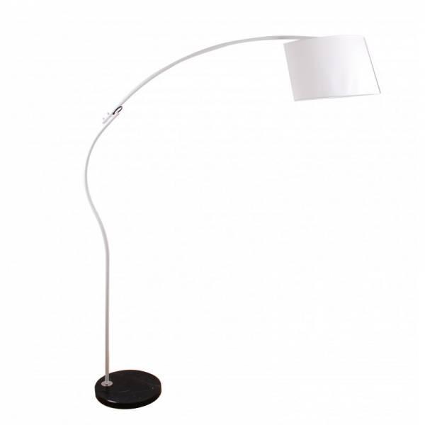 Biała lampa podłogowa duża efektowna z ruchomym kloszem Slidehome
