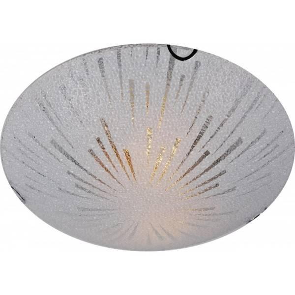 Szklany Ozdobny Plafon Sufitowy Okrągły O średnicy 30cm łazienkowy