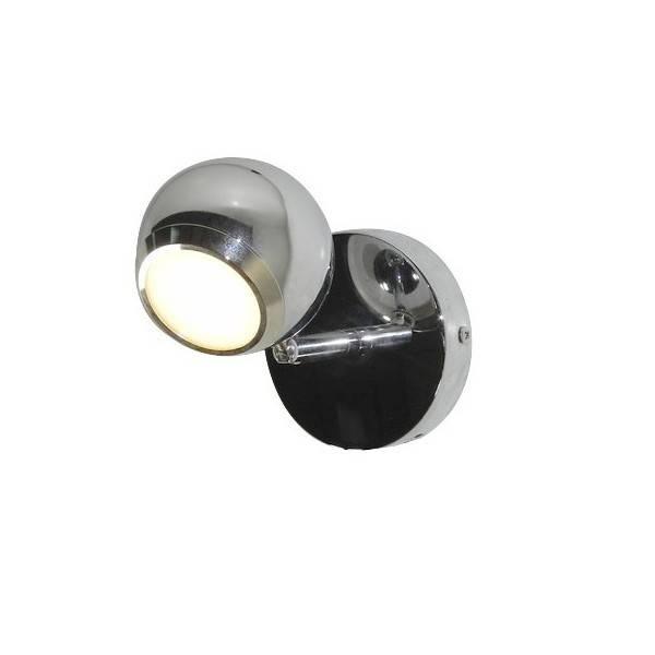 Chromowana lampa do łazienki punktowa