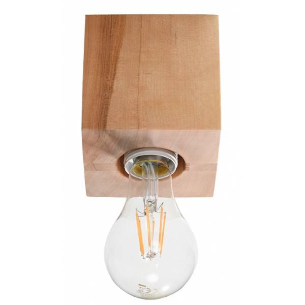 Klasyczna lampa sufitowa tuba drewniana ABEL naturalne drewno