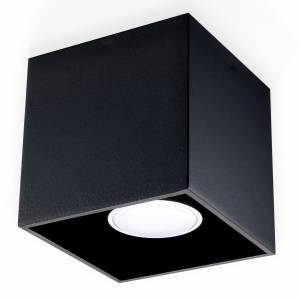 Czarna tuba kwadratowa pojedyncza