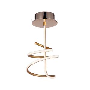 Ledowa lampa zakręcona w kolorze złotym Slidehome