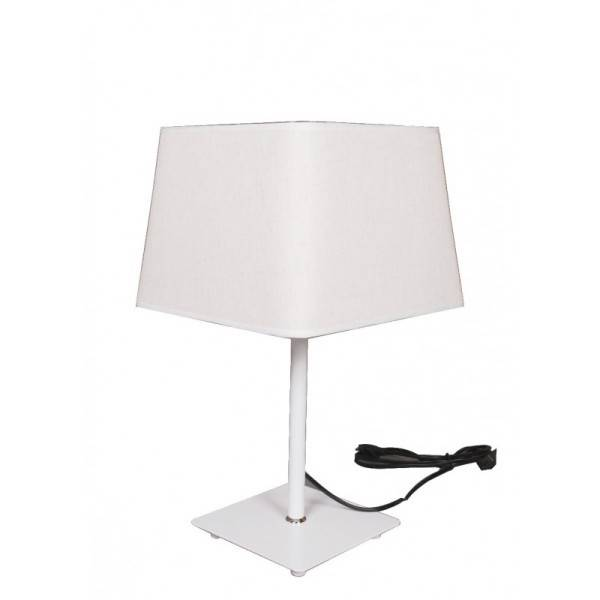 Biała lampa kanciasta nocna Slidehome