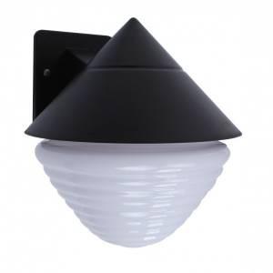 Lampa ogrodowa mleczno czarna