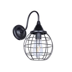 Lampa ścienna druciak czarny loftowy Slidehome