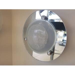 Lampa sufitowa 23 cm w stylu glamour błyszcząca Slidehome