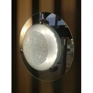 Plafon LED 23 cm okrągły ze szkła błyszczący Slidehome