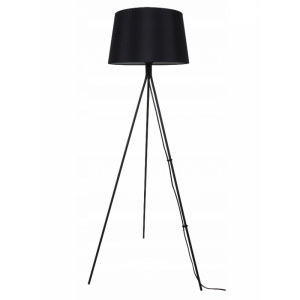 Czarna lampa stojąca trójnóg na trzech nogach Slidehome