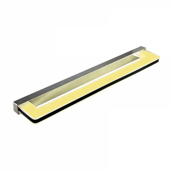 Lampa ścienna nad lustro o długości 43 cm podłużna z czarnym paskiem Slidehome