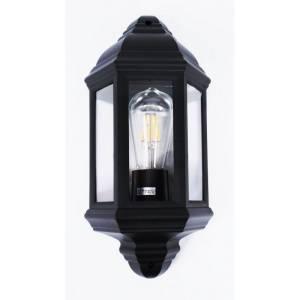 Zewnętrzna lampa przypominająca latarnię w kolorze czarnym Slidehome