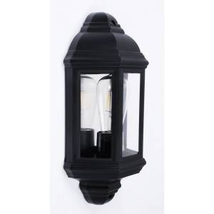 Ogrodowa lampa ścienna latarenka czarna w kształcie latarni Slidehome