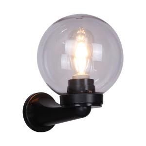 zewnętrzna lampa z okrągłym kloszem w kształcie kuli Slidehome