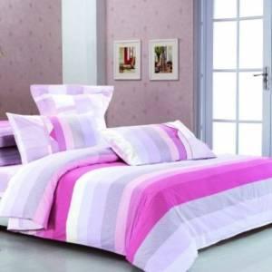 Komplet różowej pościeli bawełnianej w slidehome