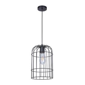 Lampa wisząca loftowa industrialna czarna druciana zaokrąglona krata druciak Slidehome