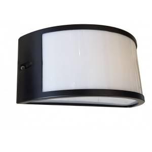 Lampa elewacyjna do montażu na zewnątrz budynku czarno mleczna Slidehome